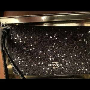 Coach Accessories - Brand new Coach wallet in black glitter